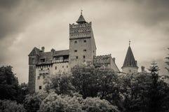 麸皮黑暗的城堡在罗马尼亚 免版税图库摄影