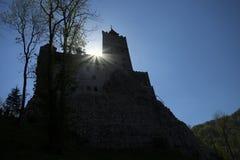 麸皮castel城堡德雷库拉・罗马尼亚transilvania 库存照片