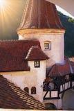 麸皮castel城堡德雷库拉・罗马尼亚transilvania 免版税图库摄影