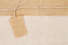 麻袋布标签定价 免版税库存照片