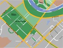 麻雀小山灰色地图在莫斯科 免版税库存照片
