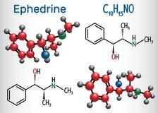 麻黄精C10H15NO分子,是疗程和兴奋剂 ST 向量例证
