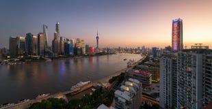 黄昏上海 库存图片
