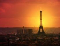 黄昏巴黎 免版税库存图片