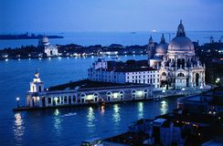 黄昏横向威尼斯 免版税库存照片