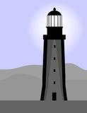 黄昏灯塔 向量例证