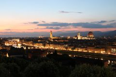 黄昏的佛罗伦萨 免版税图库摄影