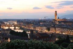 黄昏的佛罗伦萨 库存照片