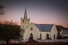 黄昏的教会 库存图片