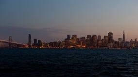 黄昏的旧金山 免版税库存图片