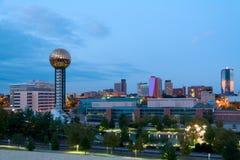 黄昏的Knoxville 免版税库存图片