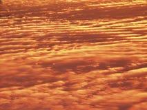 黄昏,云彩模式 库存照片