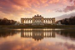 黄昏gloriette维也纳 免版税库存图片