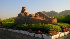 黄河的母亲雕象 图库摄影
