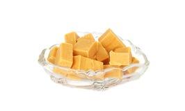 黄油乳脂软糖甜点 库存图片