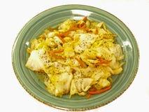 黄油圆白菜油炸物混乱 图库摄影
