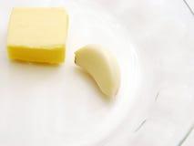 黄油大蒜 免版税库存照片
