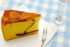 黄油奢侈蛋糕的海绵 库存照片
