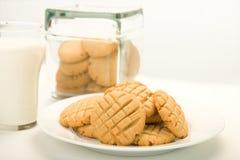 黄油曲奇饼花生 免版税库存图片