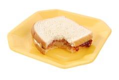 黄油果冻花生三明治 免版税图库摄影