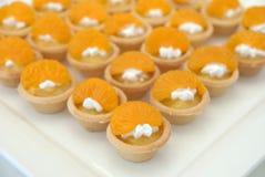 黄油橙色馅饼 免版税库存图片