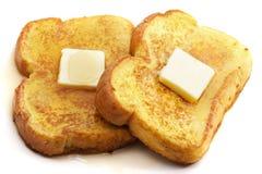 黄油法式多士 免版税库存图片
