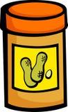 黄油瓶子花生 库存图片