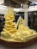 黄油雕塑 库存图片