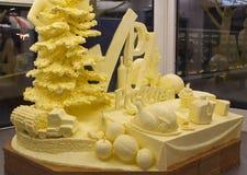 黄油雕塑 免版税库存图片