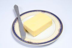 黄油 库存图片