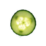 黄瓜下落片式水 免版税图库摄影