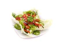 黄瓜新鲜的沙拉蕃茄蔬菜 免版税库存照片