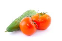 黄瓜新鲜的红色蕃茄 库存图片