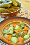 黄瓜汤 免版税库存图片