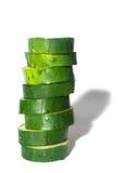 黄瓜片式 免版税库存照片