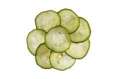 黄瓜片式 免版税库存图片
