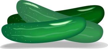 黄瓜绿色 免版税图库摄影