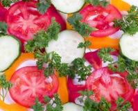 黄瓜胡椒红色蕃茄 库存照片