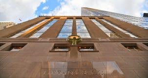 黄美英第五大道商店和大厦在曼哈顿中城 Tiffany & Company是美国豪华首饰和专业零售 图库摄影