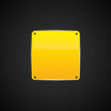 黄色优美发光金属片-向量 库存图片