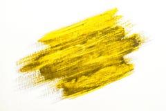黄色刷子冲程 库存图片