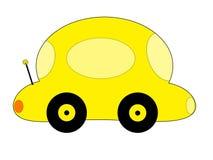黄色动画片汽车 免版税库存图片