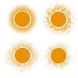 黄色半音太阳形状 图库摄影