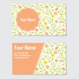 黄色和橙色花名片 免版税库存图片