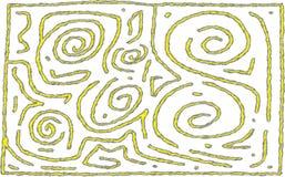 黄色和灰色迷宫样式抽象设计为背景或前景使用 皇族释放例证