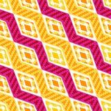 黄色和白色对角非洲几何样式 皇族释放例证