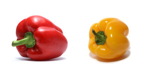 黄色和红色甜椒 免版税库存图片