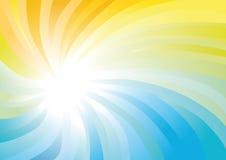 黄色和蓝色抽象漩涡 库存照片