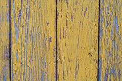 黄色土气木板条背景 免版税库存照片