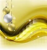 黄色圣诞节背景 免版税图库摄影